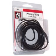 JT&T Black Primary Copper Wire | 14 Gauge, 15 Feet