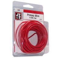 JT&T Red Primary Copper Wire | 14 Gauge, 15 Feet