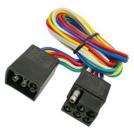 JT&T 6-Wire Squared Trailer Wire | 1 Foot Male | 1 Foot Female