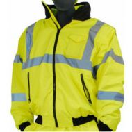 Majestic 75-1381 Series : M-Safe Yellow High Visibility 8-in-1 Transfromer Jacket,