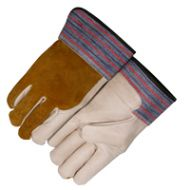 Majestic: Grain Cowhide Palm & Index Finger Gloves (Medium)